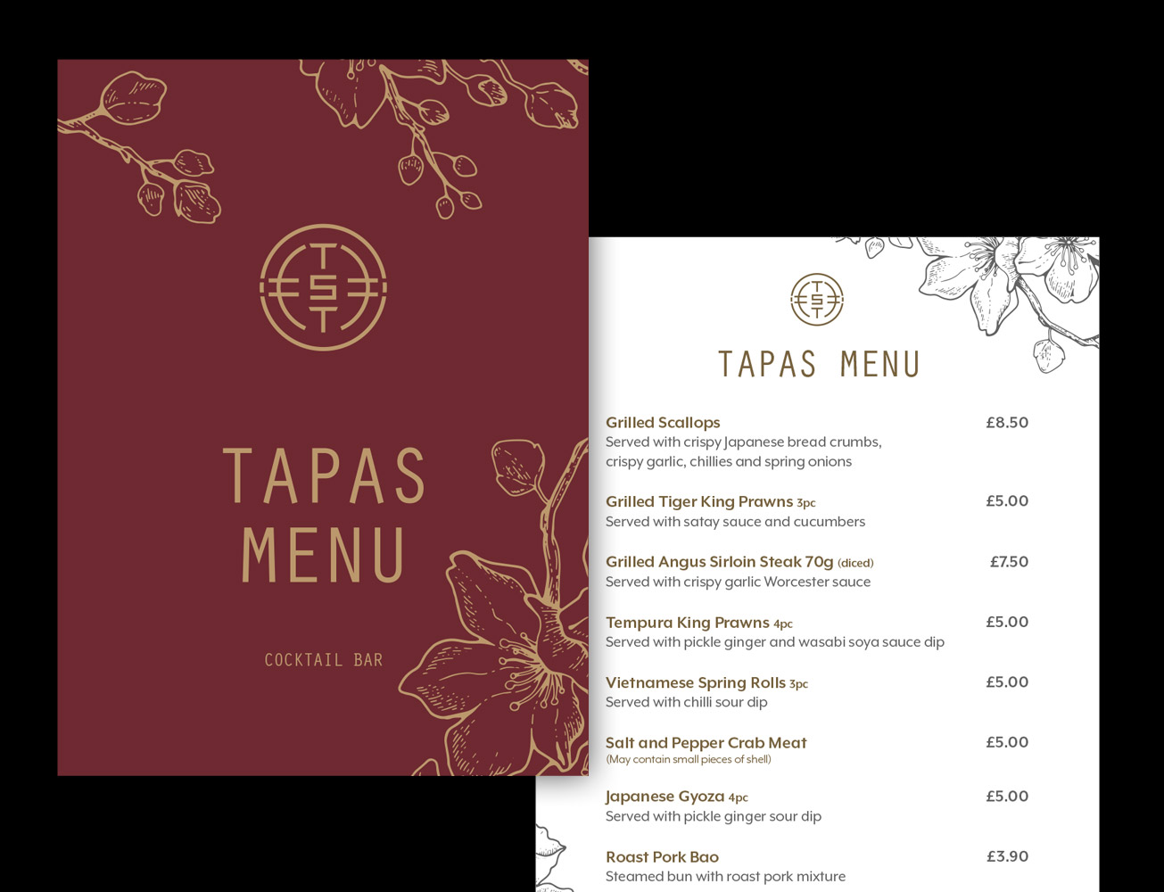 tapas-menu-design